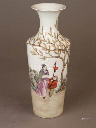 Small vase - China 20th century, porcelain with polychrome e