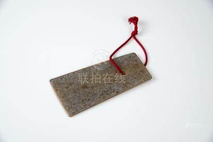 红山文化玉斧 Hungshan Culture, Jade Ax 长(Length):10.5cm 宽(Width):5.5cm 重(Weight):65g