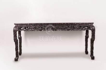 红木大画桌 A Large Red-Wood Table 长(Length):170cm 宽(Width):55cm 高(Height):87.5cm