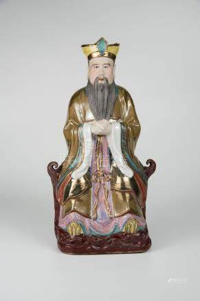 孔子 Porcelain Figure of Confucius 高(Height):35cm