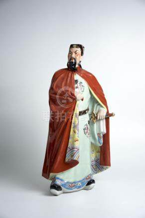 郑成功 Porcelain Figure of Zheng Chenggong, Maritime Expeditioner 高(Height):49cm