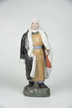 杨子荣 Porcelain Figure of Ynag Zirong of the Liberation Army 高(Height):35cm