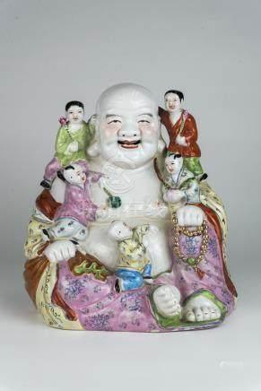 六十年代五子罗汉Sixties, Luohan with Five Childred 高(Height):30cm