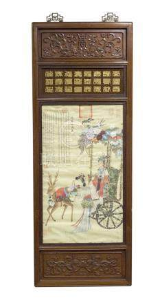 仇英 (1495–1552)Qiu Ying 花驾仙游图 The Procession 纸本   镜心   Mounted  and Framed 高(Height): 85.5cm 宽(Width): 53.5 cm