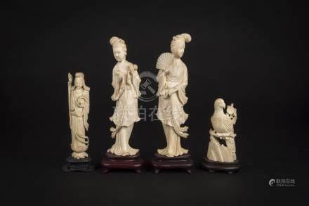 民国 象牙仕女Republic Period, Ivory Court Ladies 高(Height):20cm 重(Weight):509g
