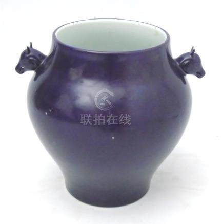 A Chinese monochrome vase,