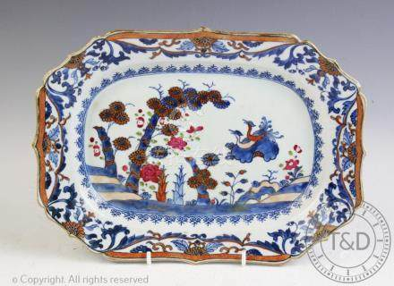 An 18th century Chinese export porcelain meat plate,