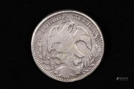 1844 MEXICO 8 REALES SILVER GUANAJUATO