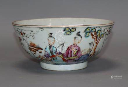 An 18th century Chinese famille rose bowl diameter 18cm