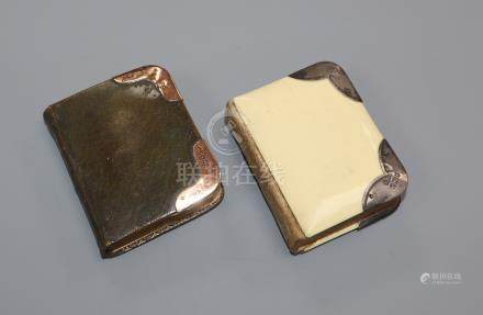 Two miniature volumes - Book of Common Prayer, one mounted in 9ct gold the other with silver and