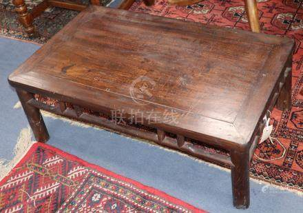 A Chinese poplar low table Kang W.81cm