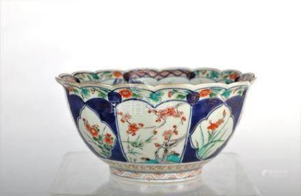 An ormolu-mounted Imari porcelain bowl