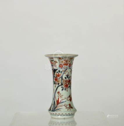 An Imari beaker vase