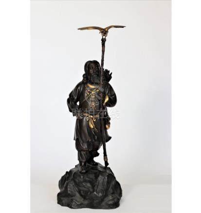A bronze figure of Japans first Emperor Jimmu