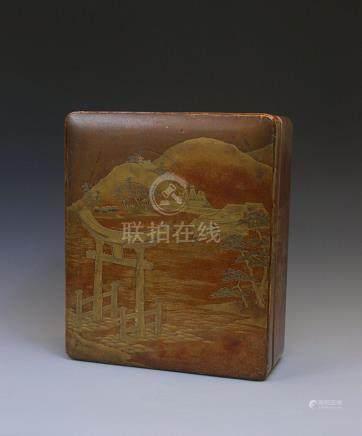 A Japanese Ryoshibako document box