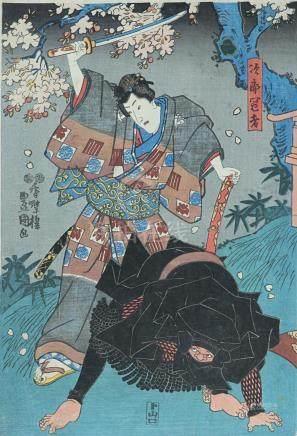 Original woodblock print, by Utagawa Kunisada (1786-1864)
