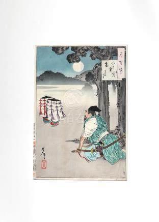 Original woodblock print, by Yoshitoshi Tsukioka (1839-1892)