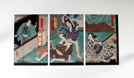 Original woodblock print, by Toyokuni III Utagawa (1786-1865