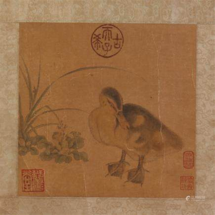 CHINESE SMALL PAINTING OF DUCK