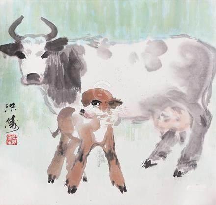 梁洪濤  母子牛