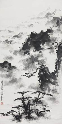 董壽平  山水(龍濱上款)