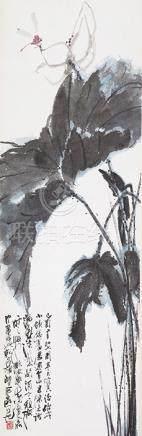 陳丙光  荷花蜻蜓(李微波上款)