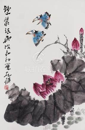 吳東魁  花鳥