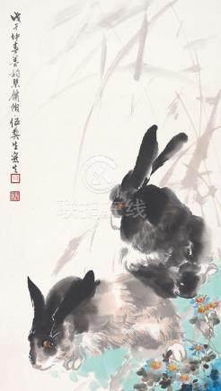 伍彝生  雙兔