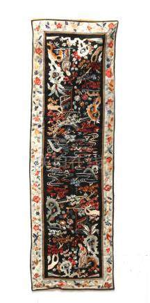 First half of 20th century Chinese Republic period embroidered silk fabrik