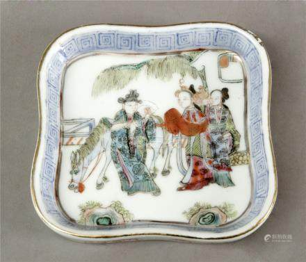 19th century Chinese Qing period serving tray in Famille Rose porcelain