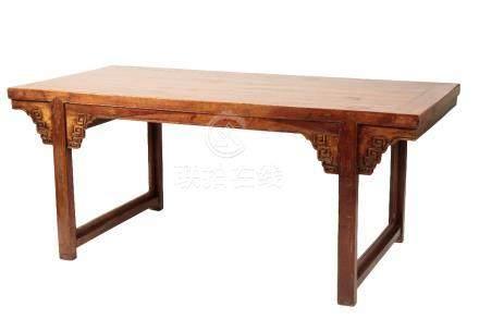 HARDWOOD RECESSED LEG TABLE