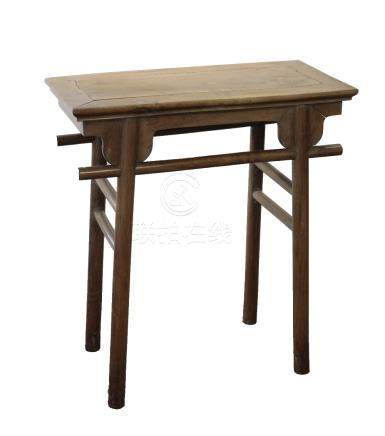 MING STYLE HARDWOOD RECESSED LEG TABLE