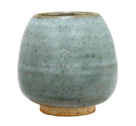 A Chinese junyao bowl, Yuan/early Ming dynasty, of ovoid form, with thick blue-lavender glaze
