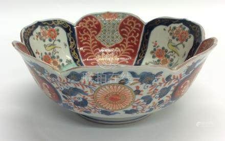 A Chinese circular bowl attractively decorated wit