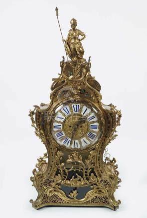 LARGE 19TH-CENTURY BUHL MANTLE CLOCK