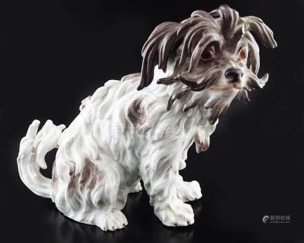 19TH-CENTURY MEISSEN PORCELAIN DOG
