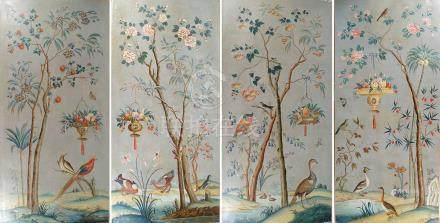 SET OF FOUR LARGE 18TH CENTURY FRENCH PANELS