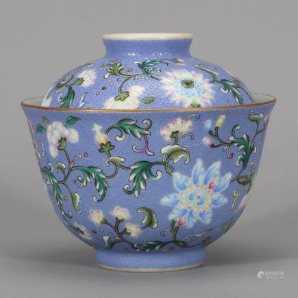 CHINESE FAMILLE ROSE COVER BOWL