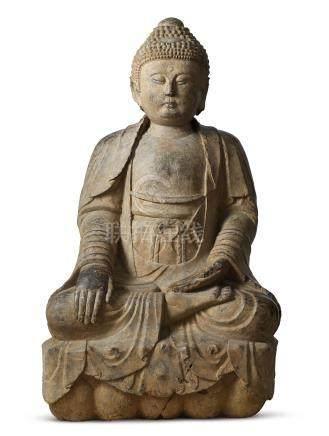 明嘉靖二十八年(1549) 何天寵家族供造石雕佛坐像