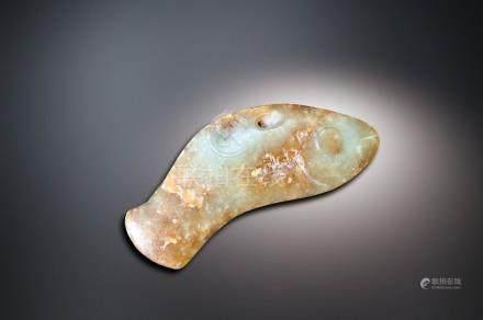 紅山文化  玉魚佩