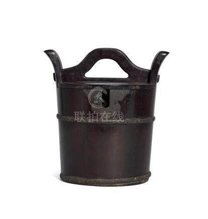 清 紫檀壺桶