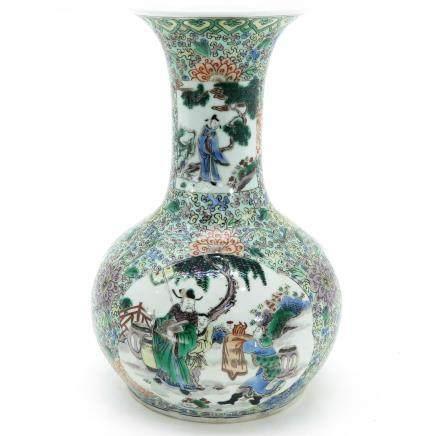 A Famille Verte Decor Vase