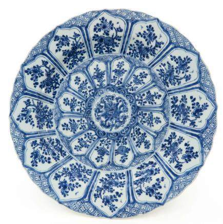 A Blue and White Decor Charger