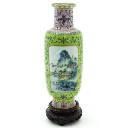 A Famille Rose Decor Vase