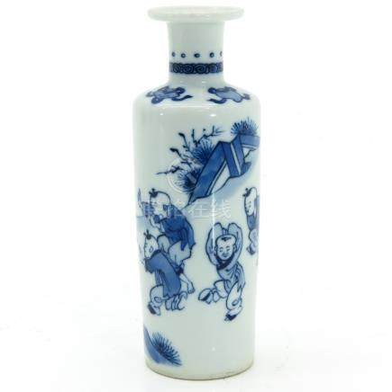 A Small Blue and White Decor Vase
