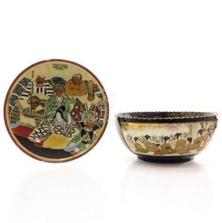 Two Japanese Satsuma Porcelain Items