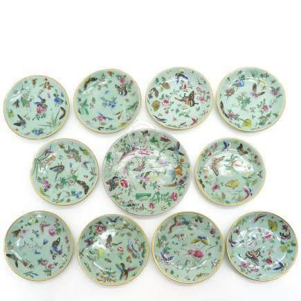 Eleven Cantonese Plates