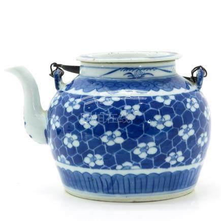 A Blue and White Decor Teapot