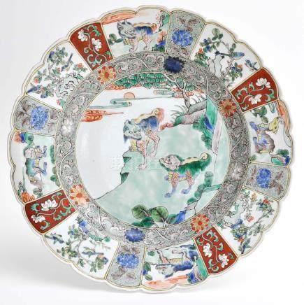 A Famille Verte Decor Plate