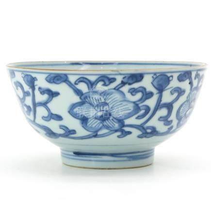 A Blue and White Decor Bowl
